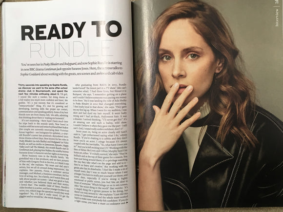 UK MARIE CLAIRE magazine June 2019 Sophie Rundle on Gentlemen Jack