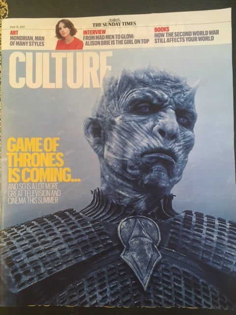 UK Culture magazine June 2017 Game of Thrones Alison Brie Gorillaz Aidan Turner