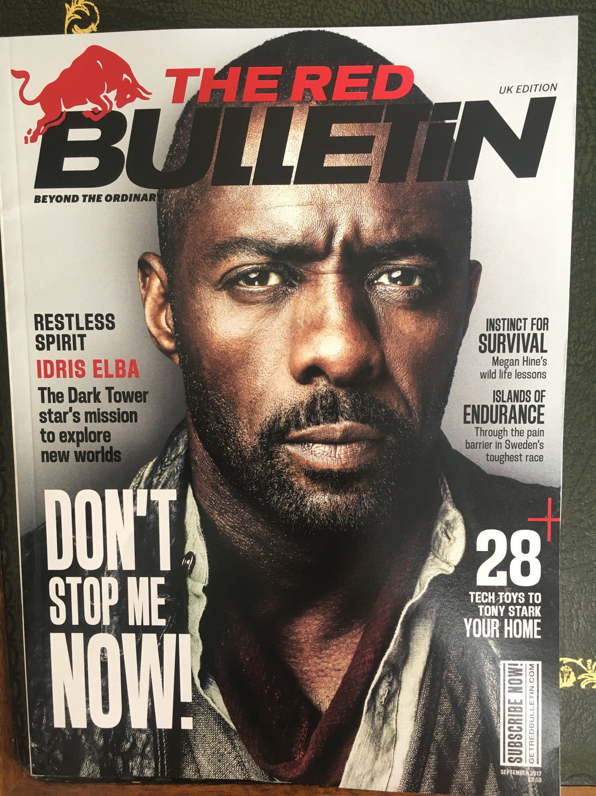 UK Red Bulletin magazine September 2017 Idris Elba Ryan Reynolds Noomi Rapace Sophie Cookson