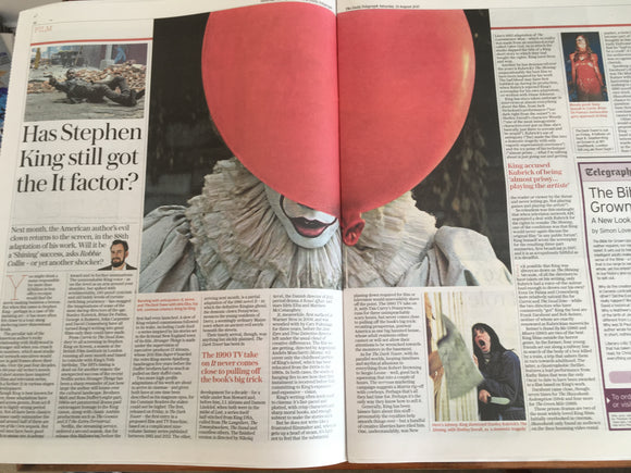 UK Telegraph Review 12 August 2017 Nicole Krauss Vanessa Redgrave Stephen King