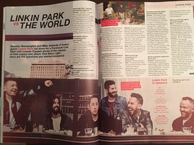 NME Magazine April 2017 Royal Blood Chester Bennington Mike Shinoda Linkin Park