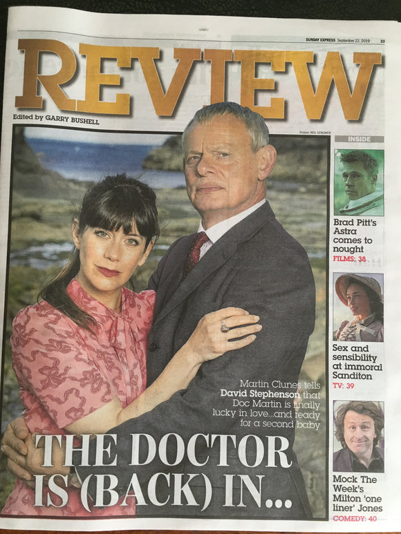 UK Express Review 22 September 2019: Martin Clunes Doc Martin Cover Interview