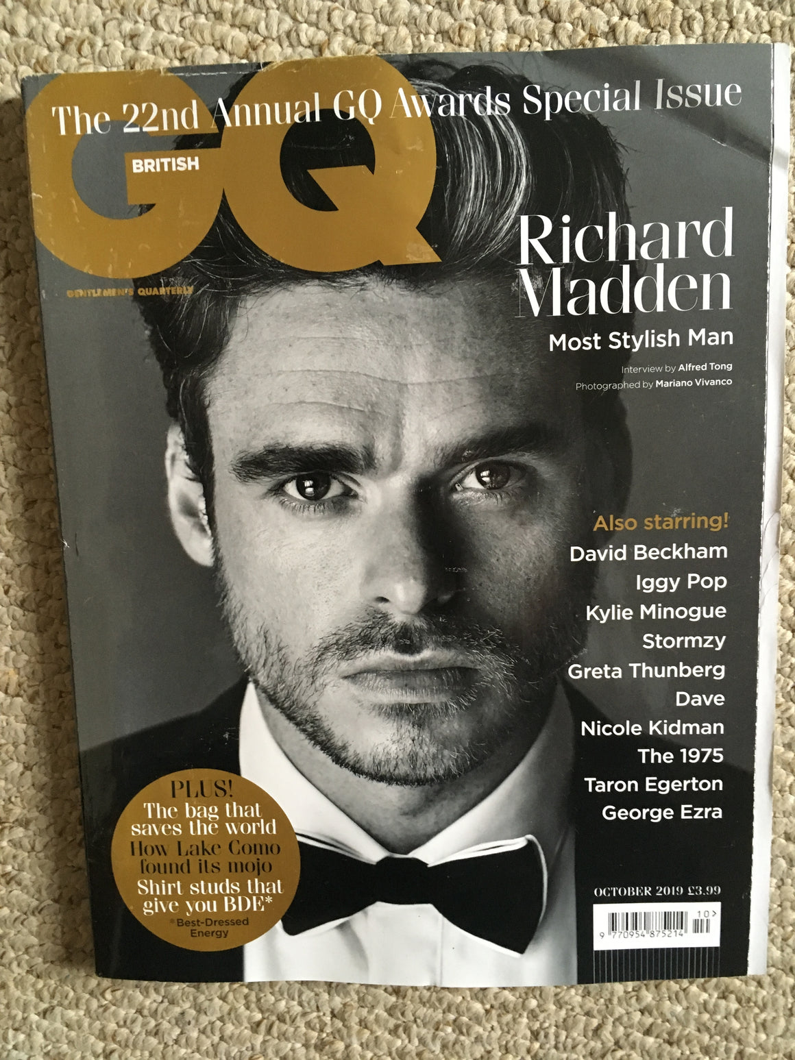 British GQ Magazine October 2019: RICHARD MADDEN Limited Edition Cover