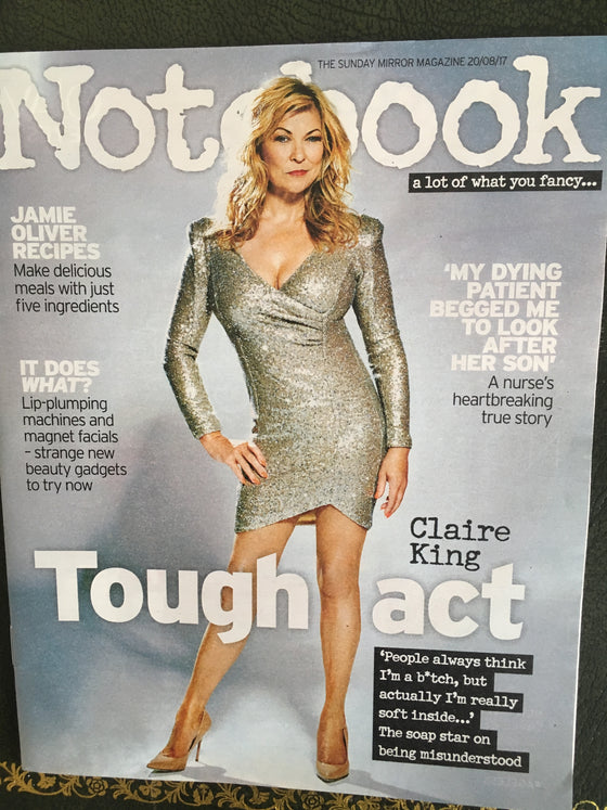 UK Notebook Magazine 20th August 2017 Claire King Dexter Fletcher Len Goodman