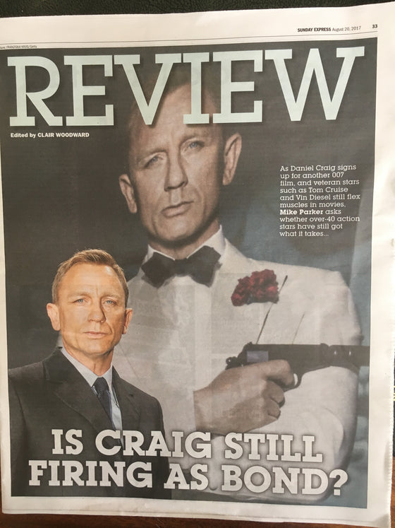 Daniel Craig James Bond Photo Cover August 2017 Uk Express Review