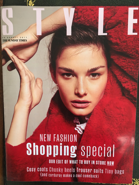 UK Style magazine 20 August 2017 Ophelie Guillermand UK Cover Story Shoot