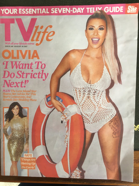 TV Life Magazine August 2017 Olivia Buckland Faye Brookes Sophie Porley Anthony Quinlan