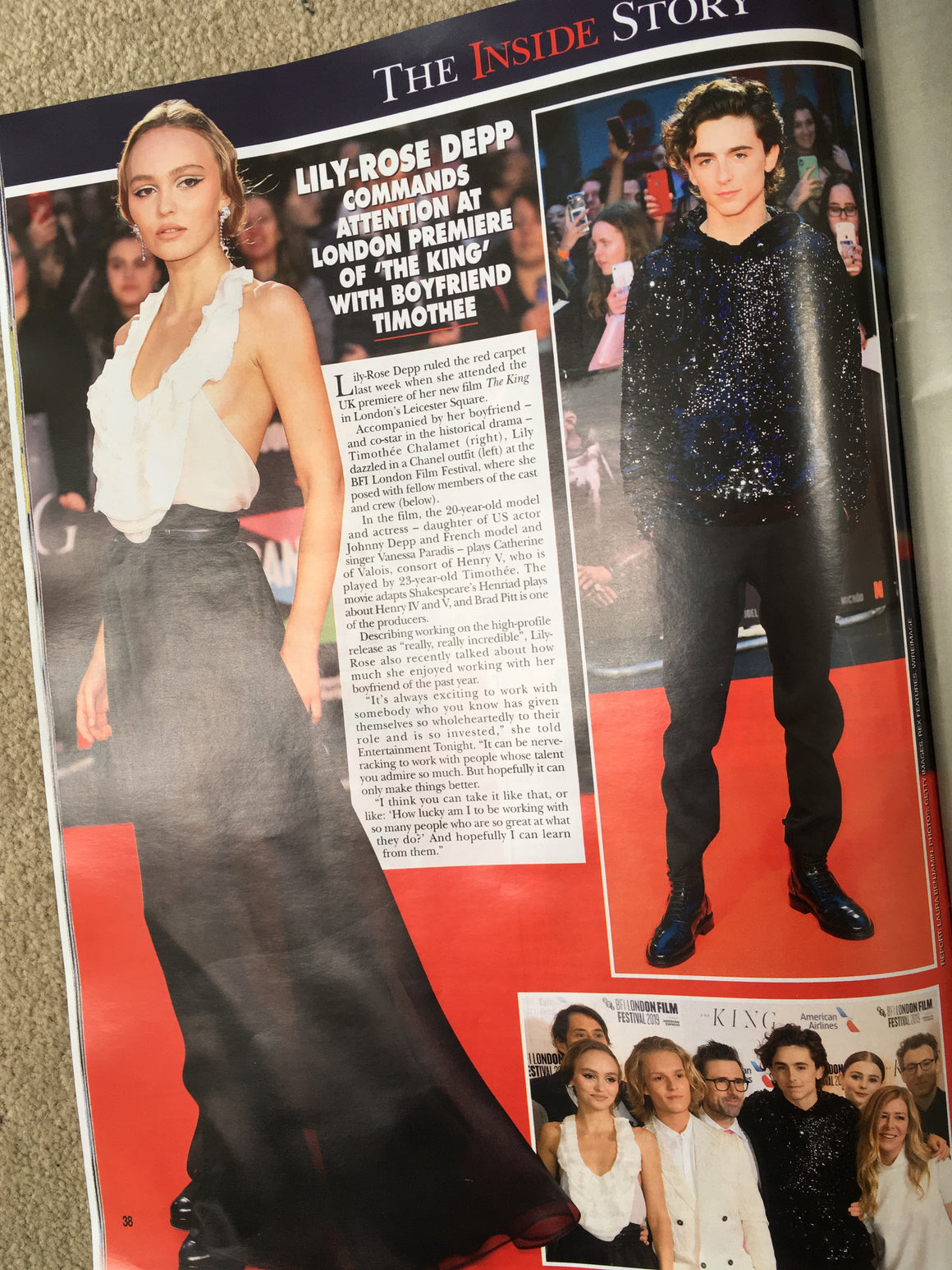 UK Hello! Magazine October 2019: TIMOTHEE CHALAMET The King Premiere