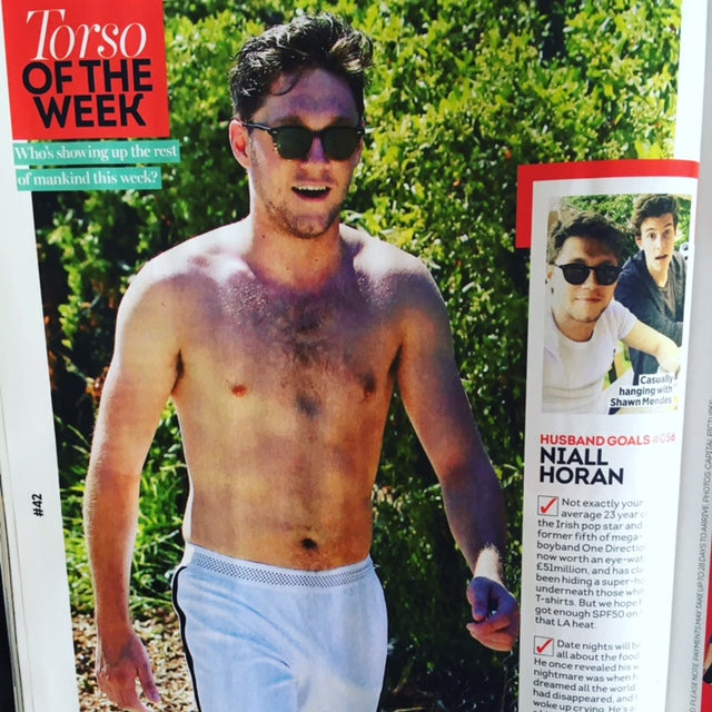 Heat Magazine August 2017 Niall Horan One Direction 'Torso of the Week'