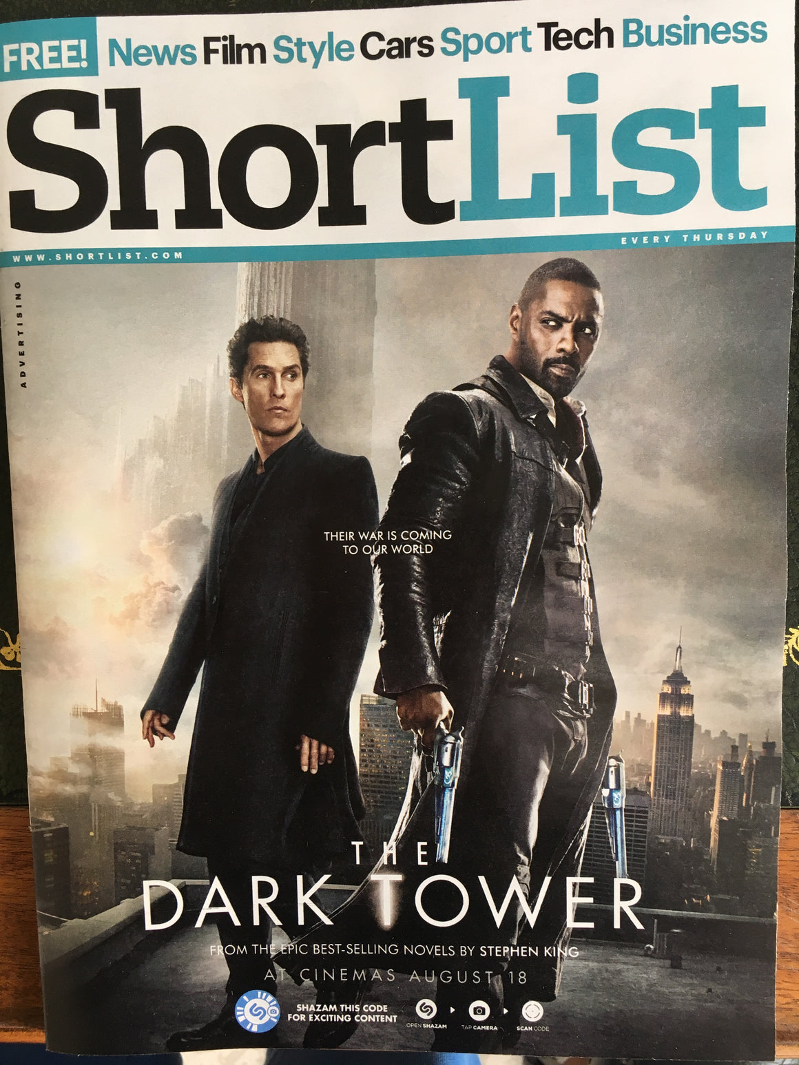 UK Shortlist Magazine August 2017 Idris Elba Matthew McConaughey Mike Colter