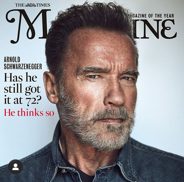 TIMES magazine 12 October 2019: Terminator ARNOLD SCHWARZENEGGER COVER FEATURE