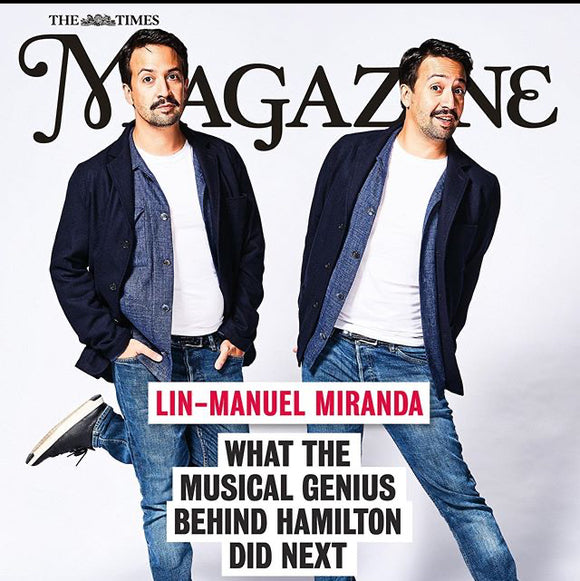 TIMES magazine 19 October 2019: Lin-Manuel Miranda - Timothee Chalamet Advert