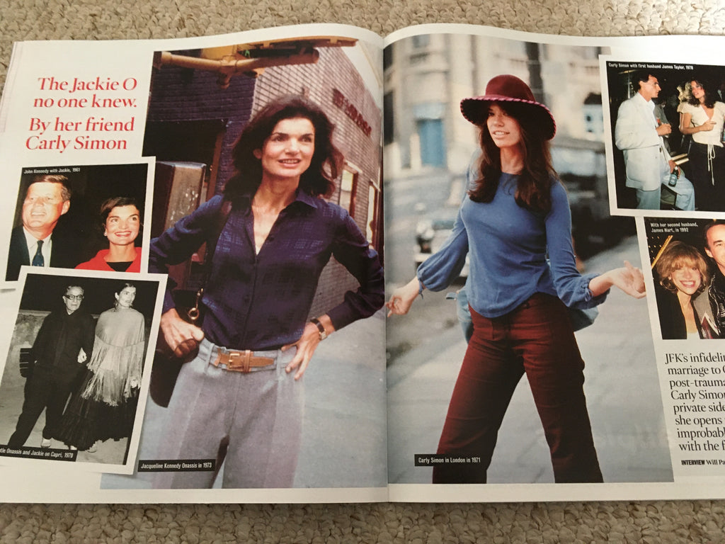 TIMES magazine 19 October 2019: Carly Simon: Me and Jackie Onassis