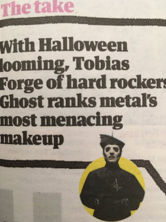 UK Guardian Guide October 2019: GHOST Tobias Forge