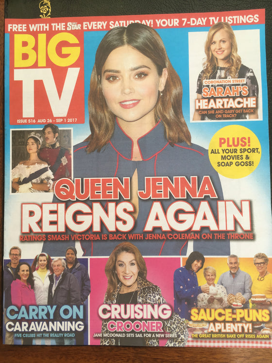 UK Big TV magazine 26 August 2017 Jenna Coleman Young Victoria Cover Interview