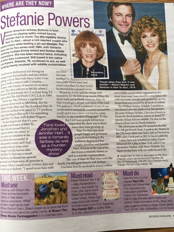 SATURDAY Magazine 10/2019: SARAH LANCASHIRE Stefanie Powers NATALIE J ROBB