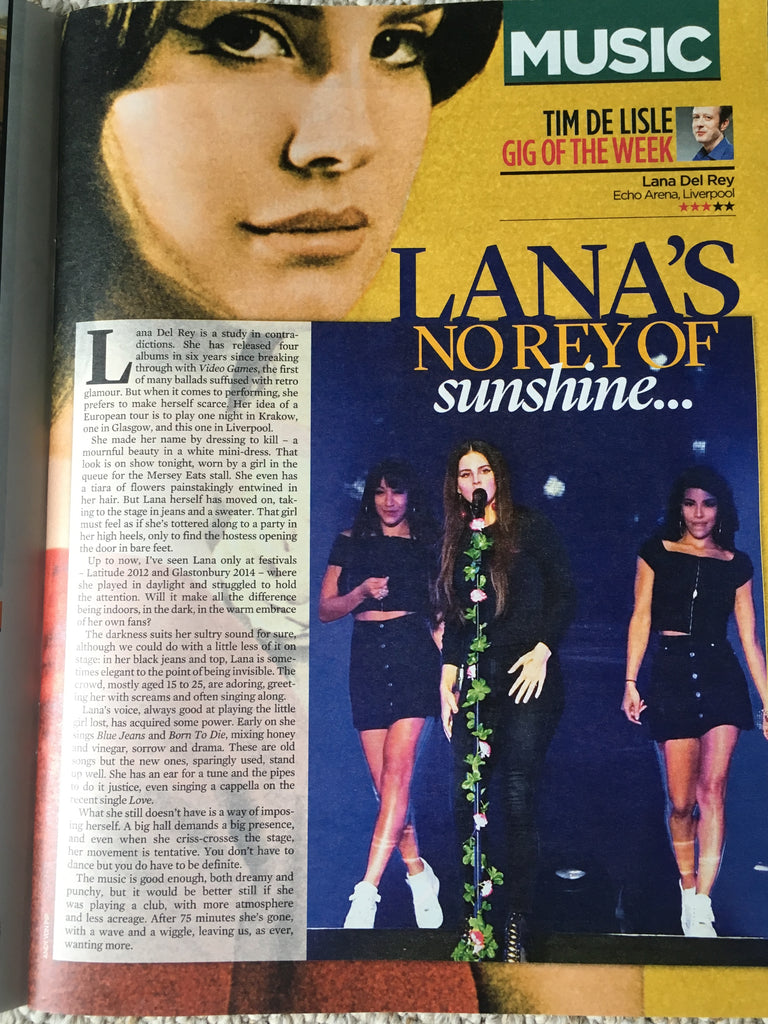 Lana Del Rey is the Mail on Sunday's gig of the week