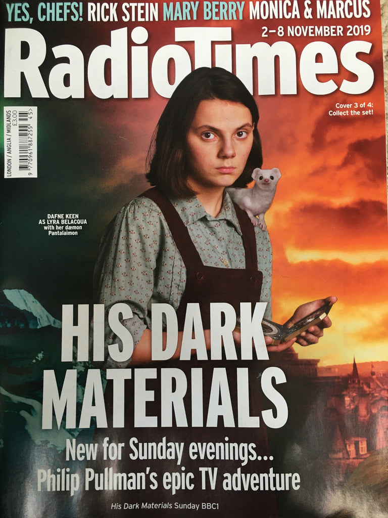 RADIO TIMES Magazine 2 November 2019: DAFNE KEEN (His Dark Materials) Cover #3
