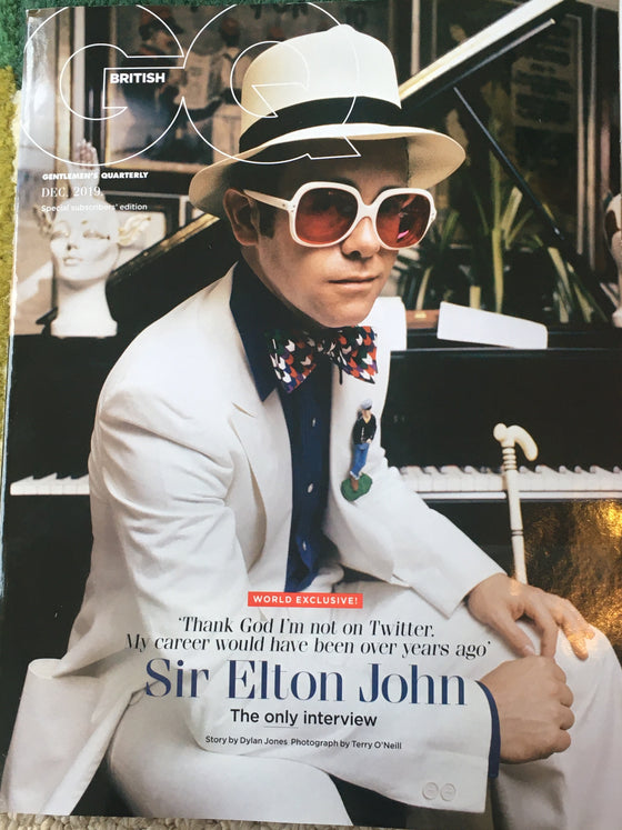 UK GQ Magazine December 2019: Sir Elton John Limited Subscribers Cover
