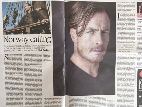 Toby Stephens UK Photo Interview London Evening Standard August 2017