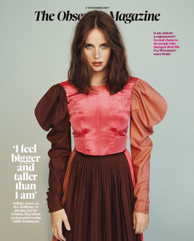 OBSERVER magazine 3 November 2019 Felicity Jones cover and interview