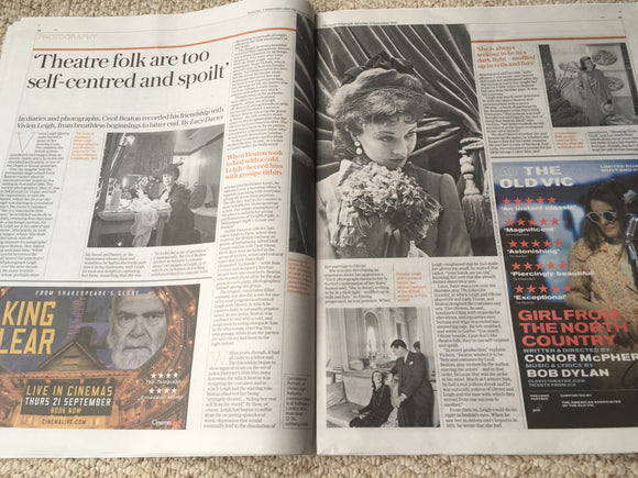 Telegraph Review Sept 2017 Sharon Osbourne Cecil Beaton Vivien Leigh Martin Shaw