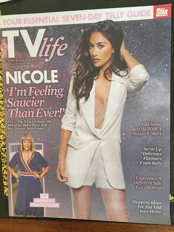 TV Life Magazine September 3 2017 Nicole Scherzinger Fay Ripley James DeGale
