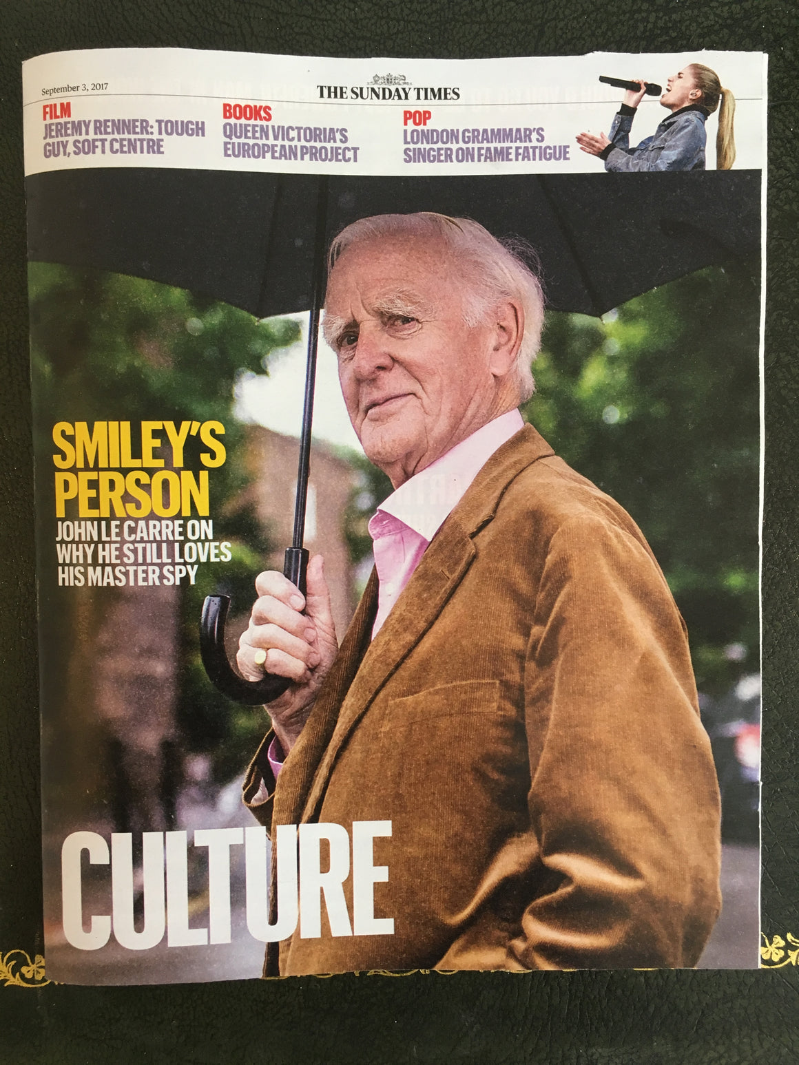 UK Culture magazine 3 September 2017 John Le Carre Jeremy Renner London Grammar