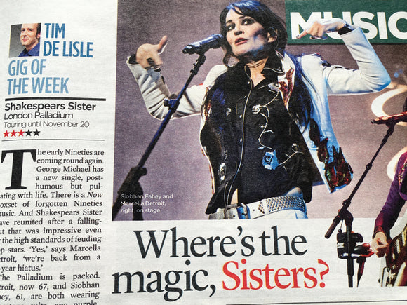UK Event Magazine November 2019: Ronnie Wood (The Rolling Stones) Shakespears Sister