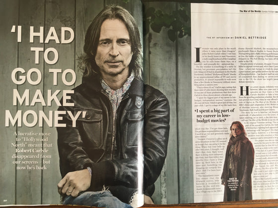 RADIO TIMES Magazine 16 Nov 2019: Robert Carlyle - The RT Interview