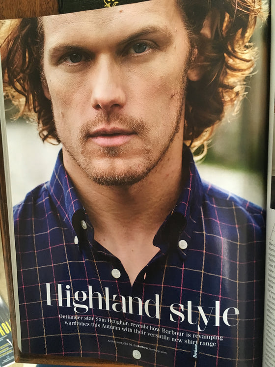 Sam Heughan photo shoot for Barbour