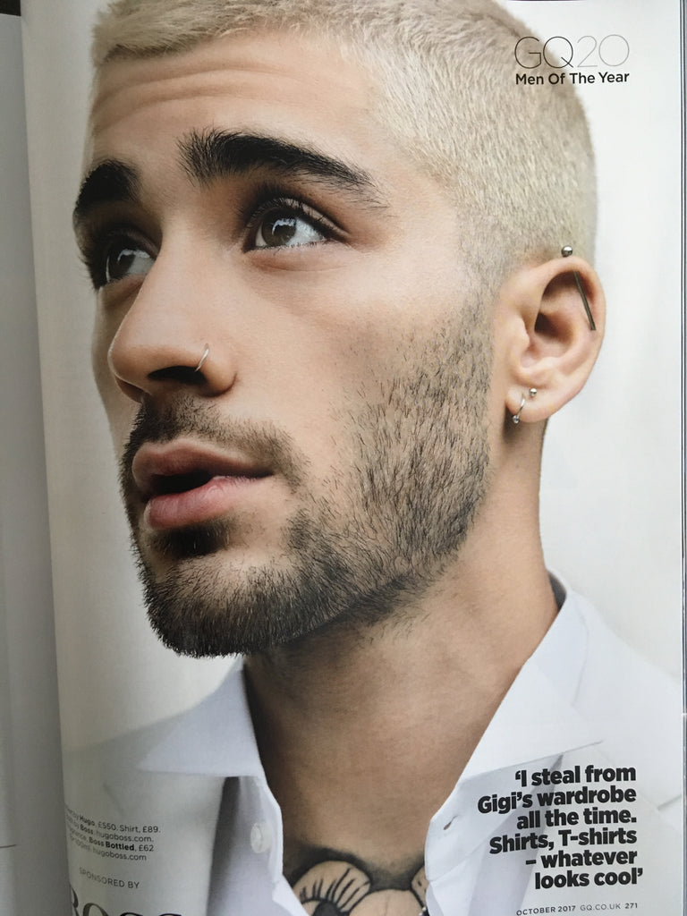 GQ Magazine British October 2017 Zayn Malik One Direction NEW