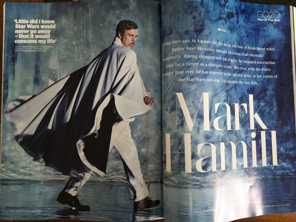 UK GQ Magazine October 2017 Mark Hamill Star Wars UK Cover Edition 1 of 9 Covers