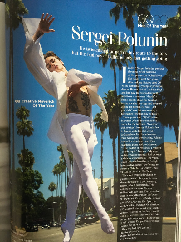 Sergei Polunin UK GQ Magazine October 2017
