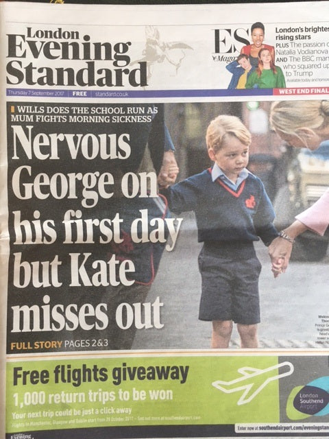 Prince George starts school in London Evening Standard