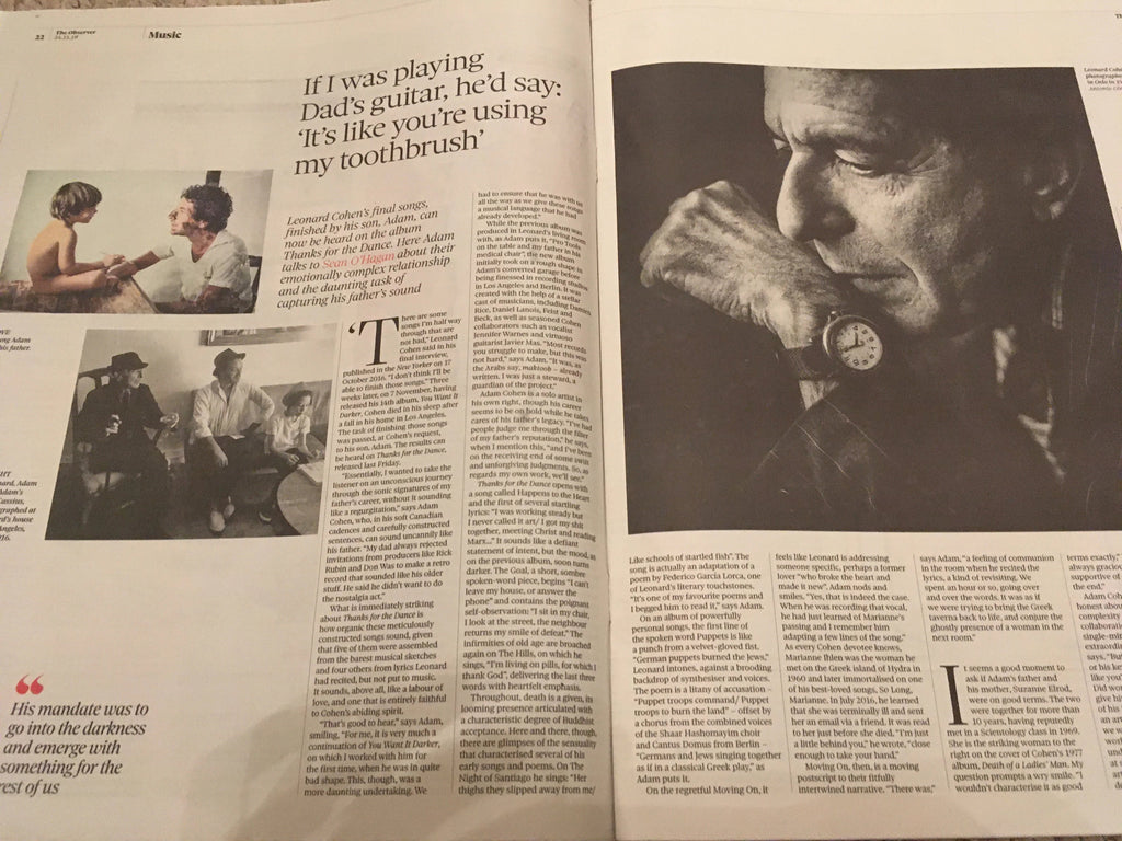 UK OBSERVER NEW REVIEW November 2019: LEONARD COHEN Don Johnson ELTON JOHN