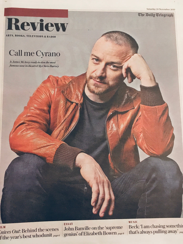 TELEGRAPH REVIEW November 2019: James McAvoy Cover Exclusive