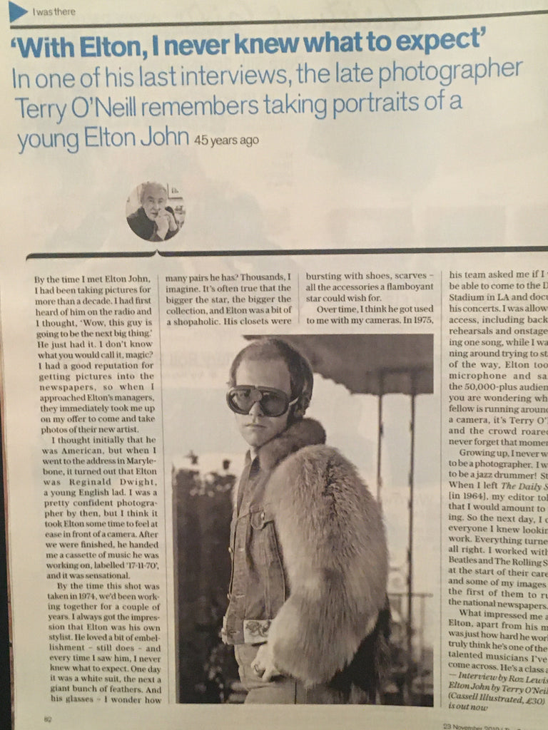 TELEGRAPH MAGAZINE - November 23 2019 Elton John by Terry O'Neill