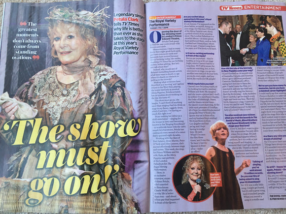 TV TIMES Magazine December 2019: DANNY MILLER Suranne Jones PETULA CLARK