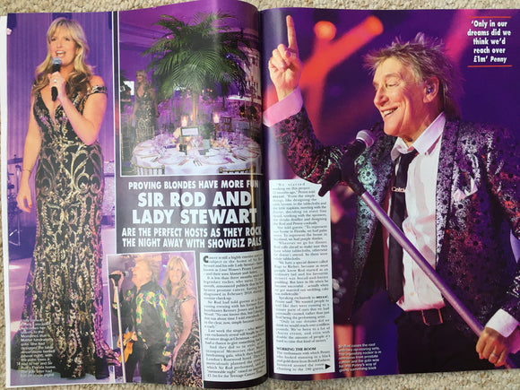 HELLO! magazine 9th December 2019 Celine Dion Rod Stewart
