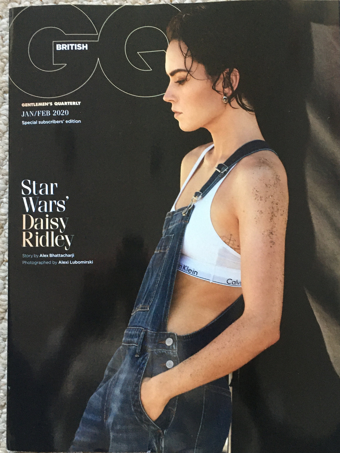 UK GQ Magazine December 2019: Daisy Ridley Limited Subscribers Cover