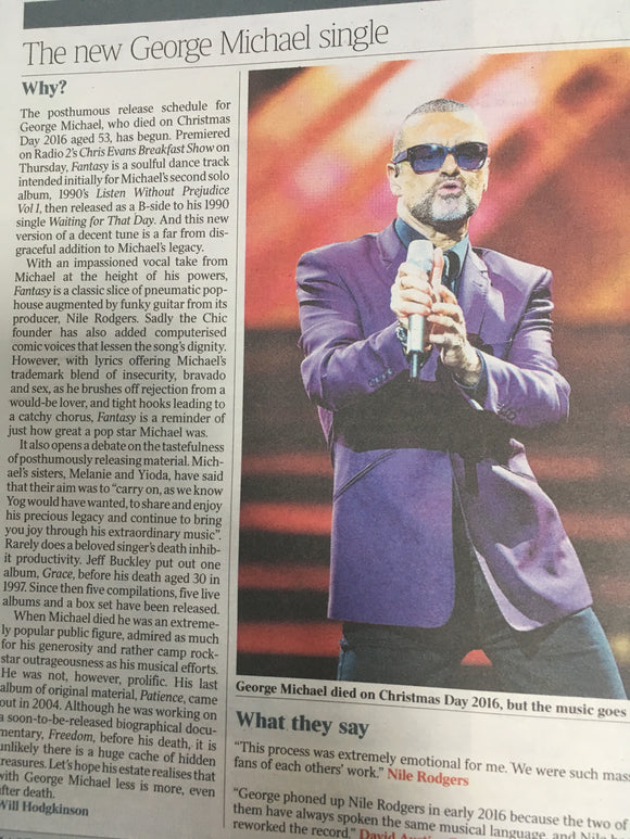 UK Times Review September 9 2017 Simon Rattle George Michael Wolf Alice