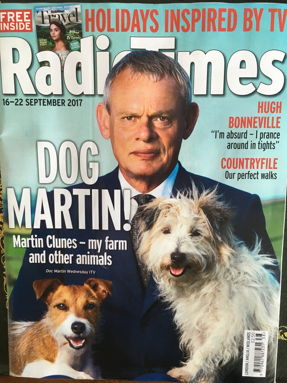 Radio Times Magazine 16 September 2017 Martin Clunes Doc Martin Cover Story