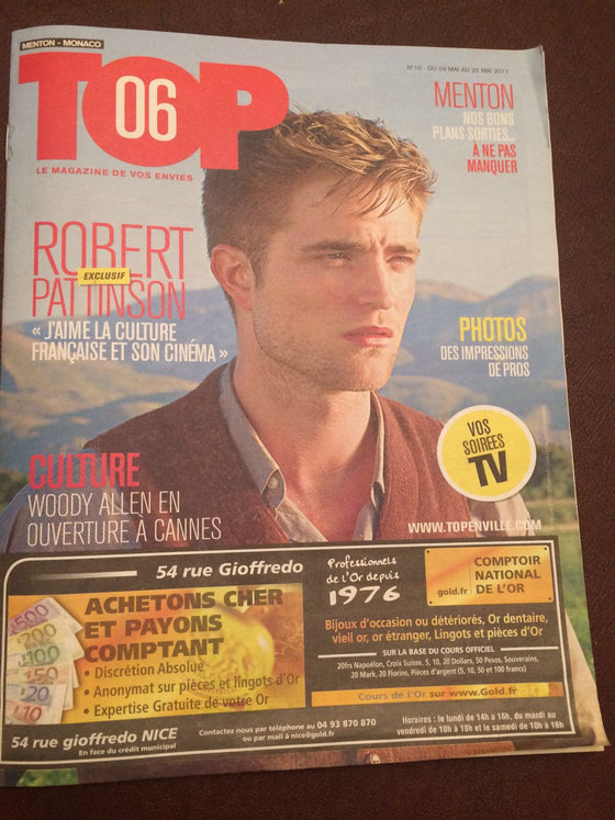 Top Monaco Magazine May 2011 Robert Pattinson Cover