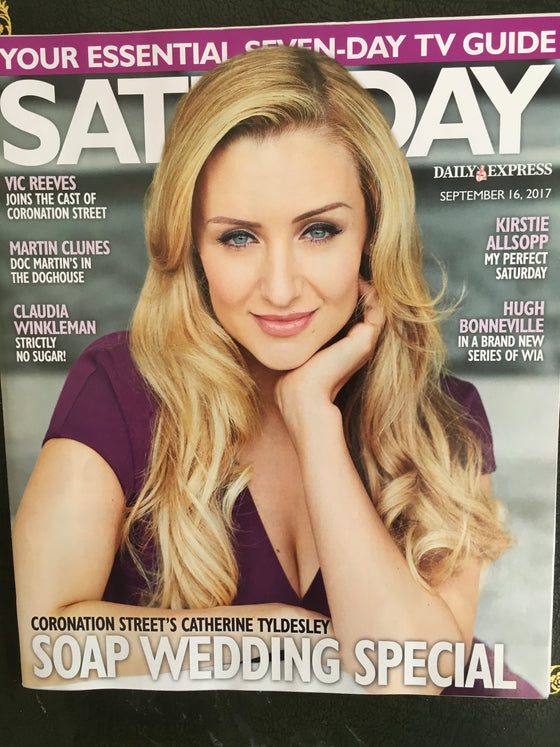 Saturday Magazine September 16 2017 Catherine Tyldesley Hugh Bonneville Martin Clunes