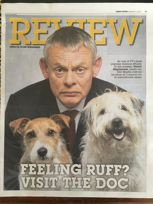 Martin Clunes on the cover in Doc Martin