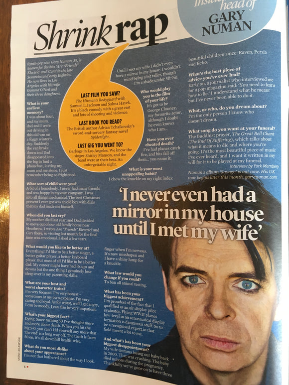 UK Event Magazine September 2017 David Bowie Gary Numan Cat Deeley Judi Dench