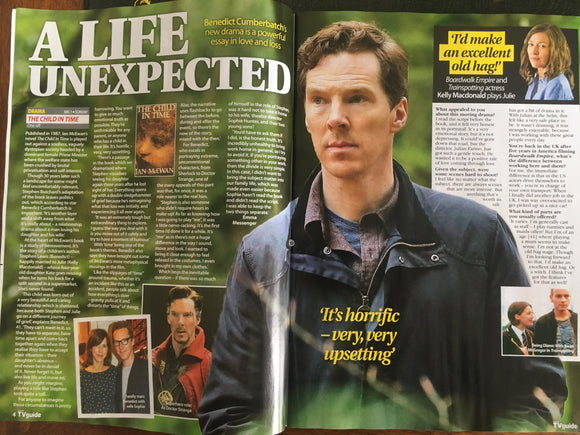 Benedict Cumberbatch on the cover of TV Guide Magazine