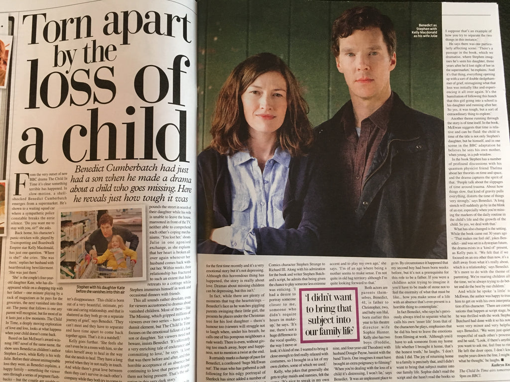 UK Weekend Magazine 23 September 2017 Benedict Cumberbatch Carol Smillie Martine McCutcheon