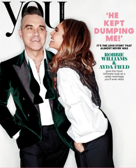 YOU magazine 29 December 2019 ROBBIE WILLIAMS & AYDA FIELD COVER FEATURE
